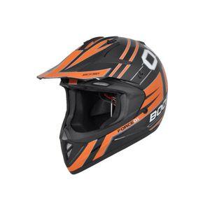 CASQUE MOTO SCOOTER Casque Cross Boost B690 Force 01 Noir/Orange L