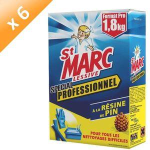 LESSIVE ST MARC Lessive - 1,8 kg - Lot de 6