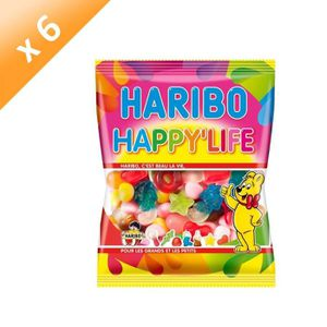 CONFISERIE DE SUCRE HARIBO Lot de 6 Bonbons Happy'Life - 275 g