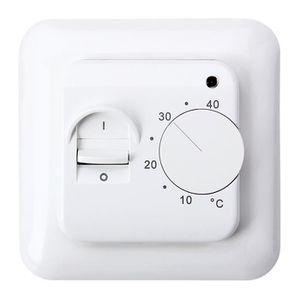 THERMOSTAT D'AMBIANCE Thermostat Manuel pour Systèmes de Chauffage Elect