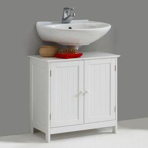 meuble sous lavabo blanc achat vente meuble sous. Black Bedroom Furniture Sets. Home Design Ideas