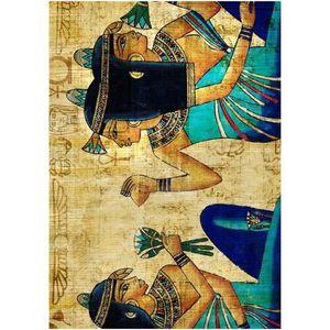 TABLEAU - TOILE gs cadre plexi 21x29 cm papyrus gypte