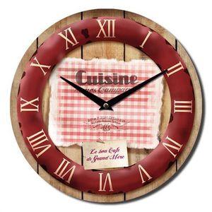 horloge de cuisine achat vente horloge de cuisine pas cher cdiscount. Black Bedroom Furniture Sets. Home Design Ideas