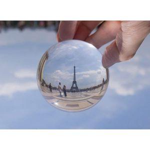 BOULE DE NOËL 100mm boule de cristal verre rond transparent arti cc704401a648