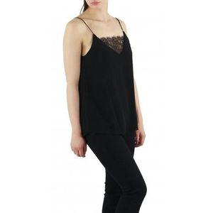 dbed8662dbab Top fines bretelles à dentelle Noir Noir - Achat   Vente t-shirt ...