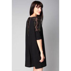 f209dfa04fc CLO SE - Robe noire détail dentelle Caliste Noir Noir - Achat ...