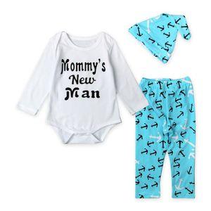 Ensemble de vêtements 0-24 Mois Bébé Garçon Pyjamas 3 PCS Ensemble de Vê ... 27132e4e627