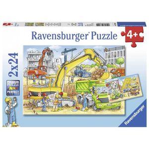 PUZZLE RAVENSBURGER Puzzle 2x24 p - Beaucoup de travail s