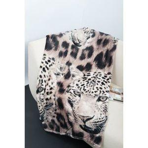 COUVERTURE - PLAID Plaid J microfibre grand luxe 150x200 cm léopard b