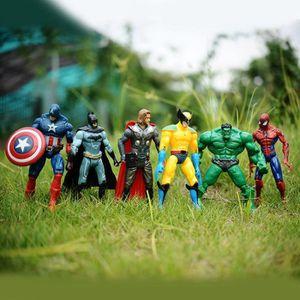 FIGURINE - PERSONNAGE 6 pcs America avengers et heros jouets pour enfant