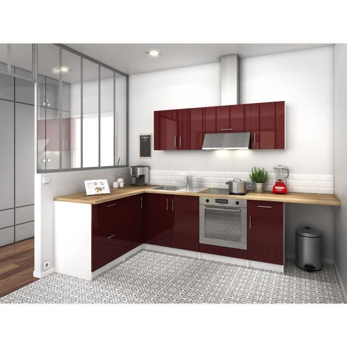 city cuisine compl te angle r versible l 2m80 bordeaux. Black Bedroom Furniture Sets. Home Design Ideas