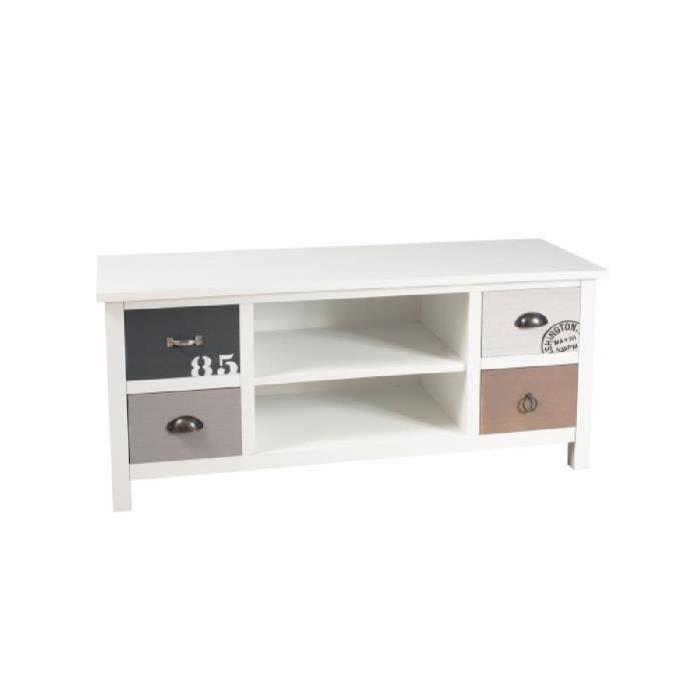 phuket meuble tv classique blanc l114cm achat vente meuble tv phuket meuble tv soldes d s. Black Bedroom Furniture Sets. Home Design Ideas