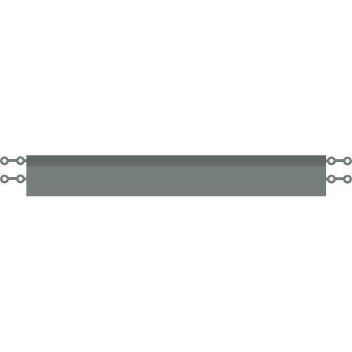 D-C-FLOOR Baguettes de finition droite clipsables - Polypropylène - Gris anthracite