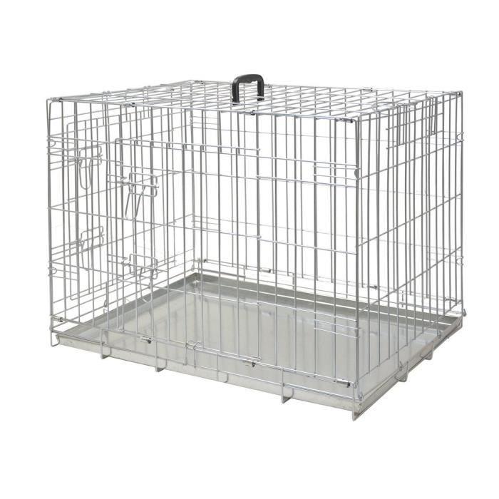NOBBY Cage métallique zinc - 56x33x41cm - Pour chien