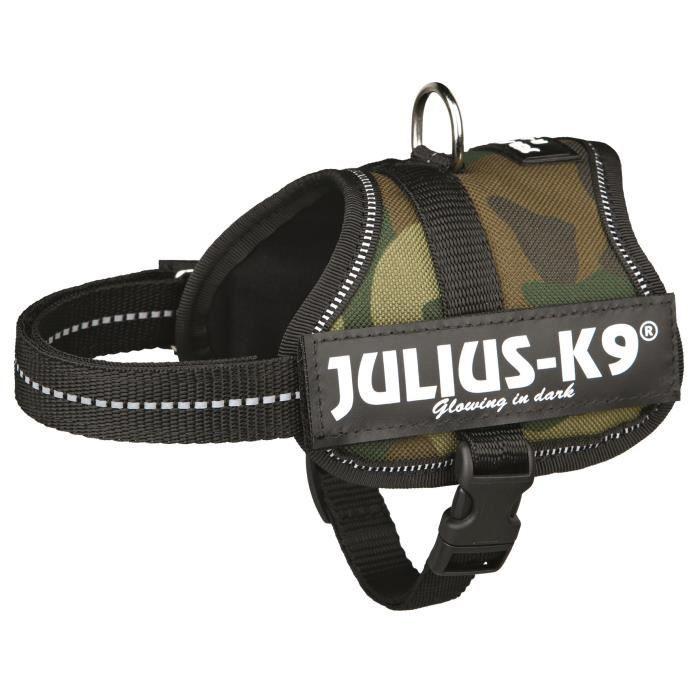 Harnais Power Julius-K9 - Baby 2 - XS-S : 33-45 cm-18 mm - Camouflage - Pour chien