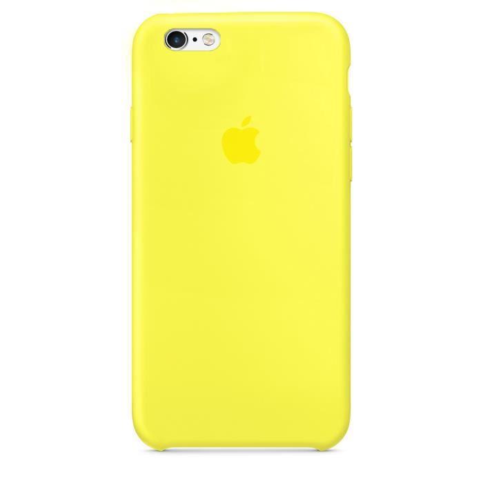 coque iphone 6 plus silicone jaune