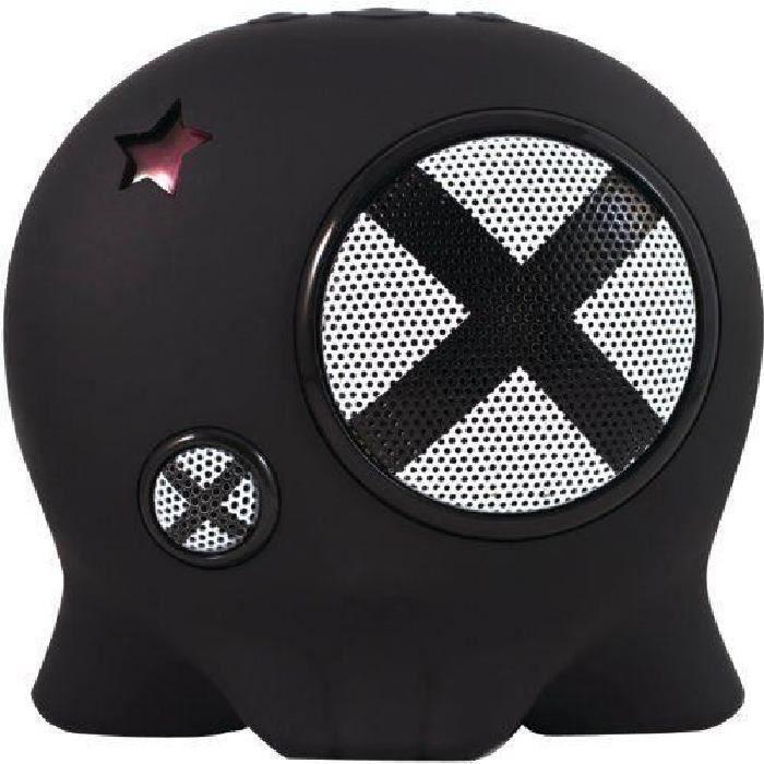 Enceinte Portable Nomade Sans Fil Bluetooth Boombotix Matière Antichoc Anti Éclaboussure Noire