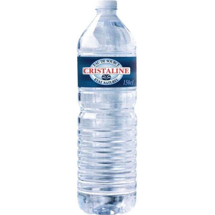 EAU PLATE Cristaline 1,5L (pack de 24)