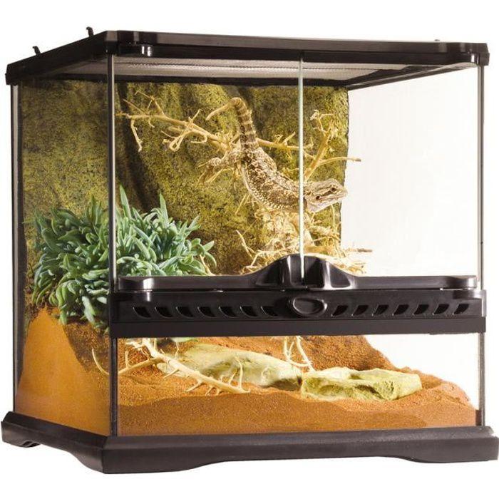 terrarium en verre 30x30x30 cm achat vente vivarium terrarium terrarium en verre prix. Black Bedroom Furniture Sets. Home Design Ideas