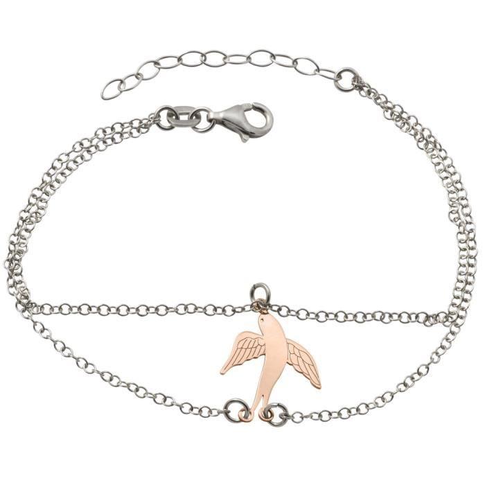 GOOIX - GOOIX 914-06268 Femmes Bracelet Schwalbe Bicolor Rose 20 cm Réf 58147