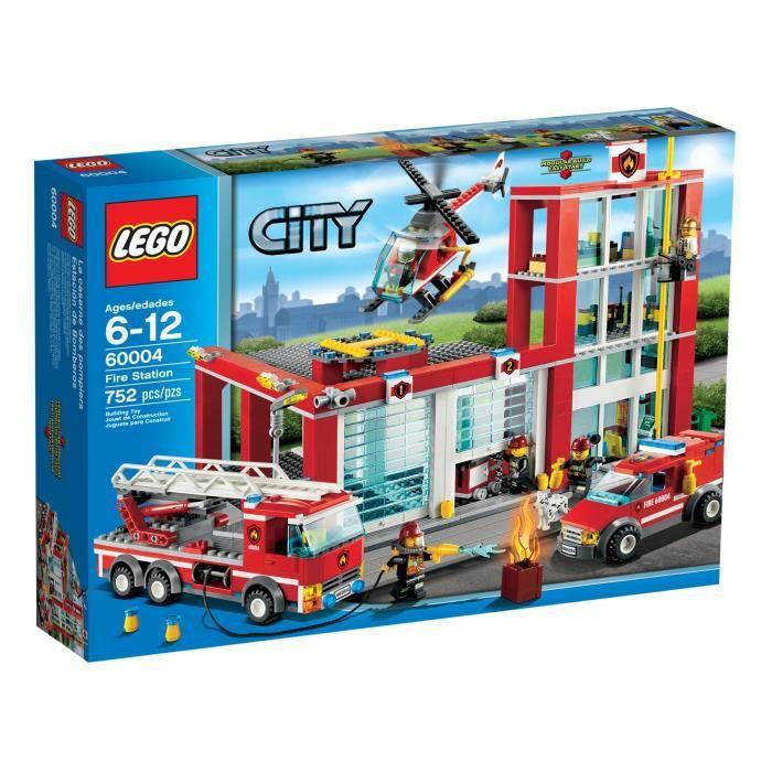 Lego city 60004 la caserne des pompiers achat vente assemblage construction cdiscount - Image lego city ...