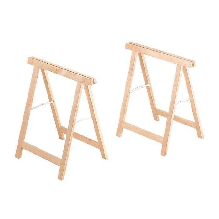 treteaux en bois par paire achat vente tr teau treteaux en bois par paire cdiscount. Black Bedroom Furniture Sets. Home Design Ideas