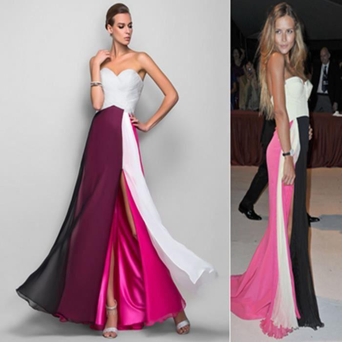 Sexy Robe de soirée Femme Longue Col en V 2016 Dos nul