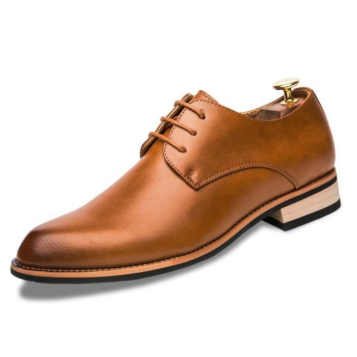 Mocassins pour homme Chaussures de villeChaussures pour costume Chaussures officieles à la main Chaussures confortables et