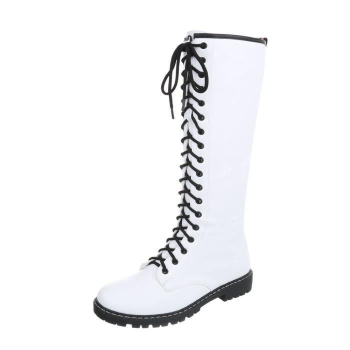 Chaussures femme bottes le laçage blanc 41 cenDla6e