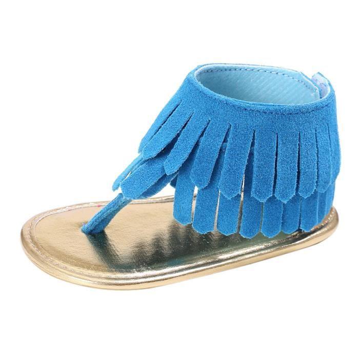 BOTTE Bébé Fille Sandales Chaussures Chaussures Sneaker Anti-dérapant Semelle Souple Toddler@BleuHM vD3EB6Q