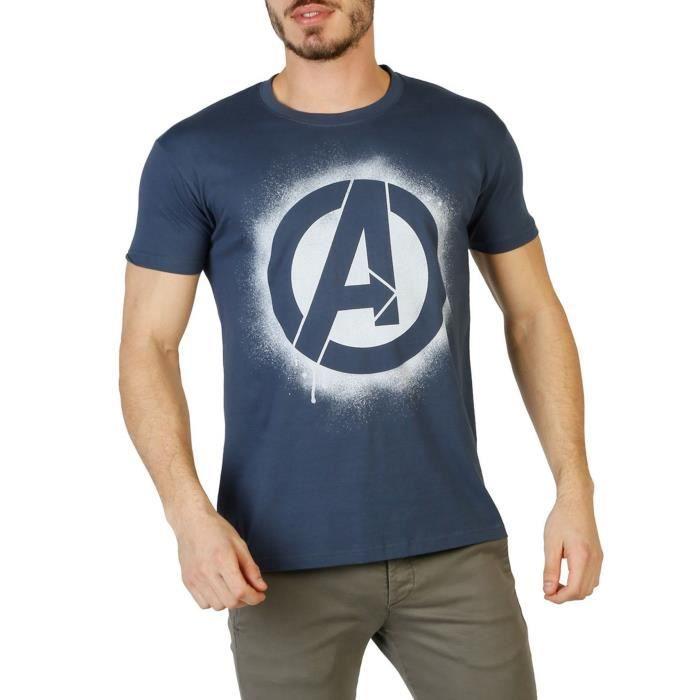 Achat Avengers Marine Shirt Homme Bleu Marvel T stxhrdQCB