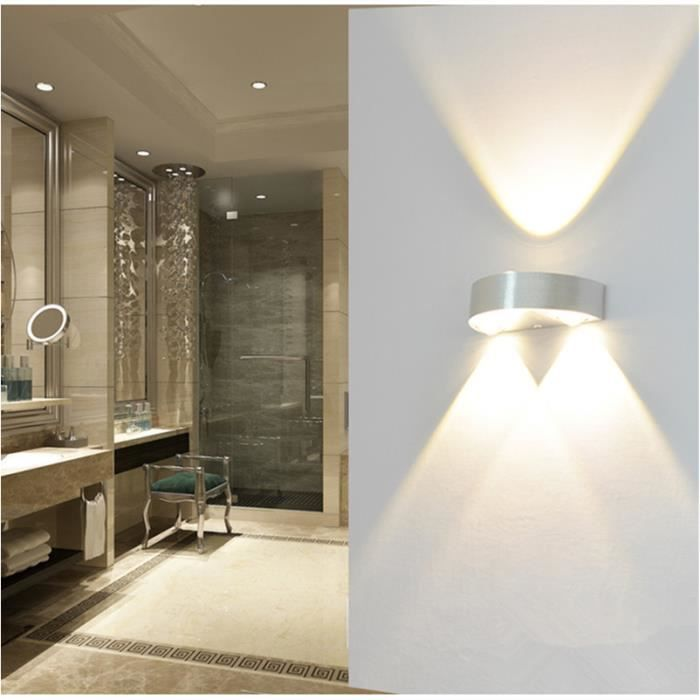 Applique LED 3W Lampe Murale Éclairage Intérieur Blanc Chaud - Achat ...