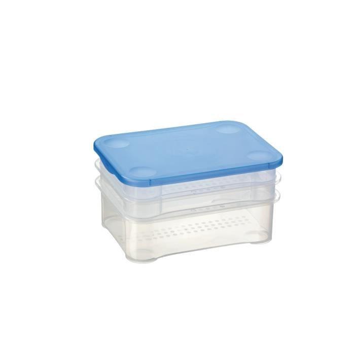 lot boite de rangement plastique avec couvercle - achat / vente
