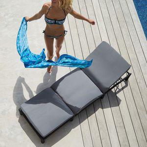 Bain de soleil tresse achat vente bain de soleil for Chaise longue avec pare soleil pas cher