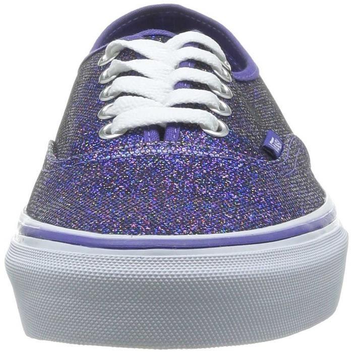 Chaussure Basse VANS Authentic Iridescent Glitter Blu/Tw Femme Pointure 37