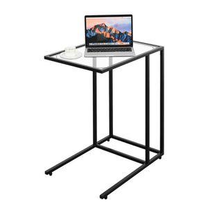 petite table de salon en verre achat vente petite. Black Bedroom Furniture Sets. Home Design Ideas