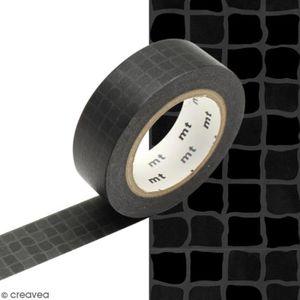 MASQUAGE - MASKING TAPE Masking tape Carrelage noir - 1,5 cm x 10 m Roulea