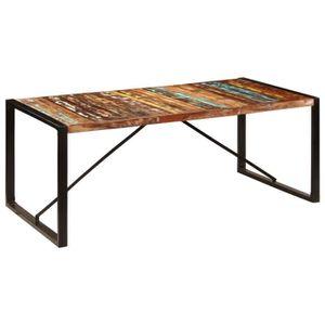 TABLE À MANGER SEULE 247412 Table à dîner 200x100x75 cm Bois de récupér
