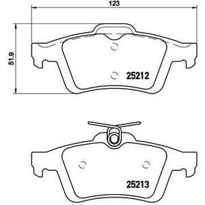 PLAQUETTES DE FREIN BREMBO Kit de Plaquettes de frein P24148 - 4 pièce