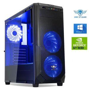 UNITÉ CENTRALE  Ordinateur Pc Gamer Rogue Blue Intel G5400 - GeFor