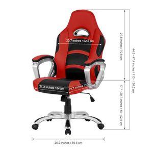 CHAISE DE BUREAU Chaise de bureau LANGRIA Ergonomique Chaise Dossie