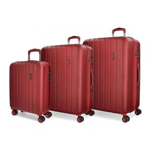 VALISE - BAGAGE Valise mobile Movom Bois rigide Rouge -40x55x20cm