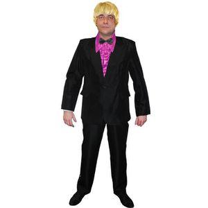 DÉGUISEMENT - PANOPLIE Costume noir avec une veste et un pantalon + une c