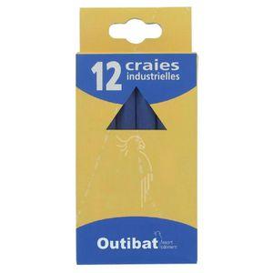 MARQUAGE - CRAYON Craie industrielle Outibat Couleur Bleu Boîte de 1