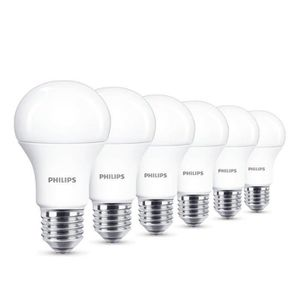 AMPOULE - LED Philips Lot de 6 Ampoules LED Standard Culot E27,