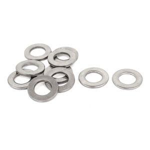 M3x7mmx1mm rond en plastique Rondelle Joint Joint anneau noir 100 Pcs