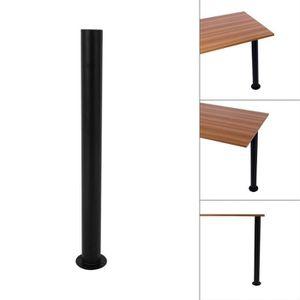 pied de meuble pieds de table escamotables noir - Buffet Avec Table Retractable