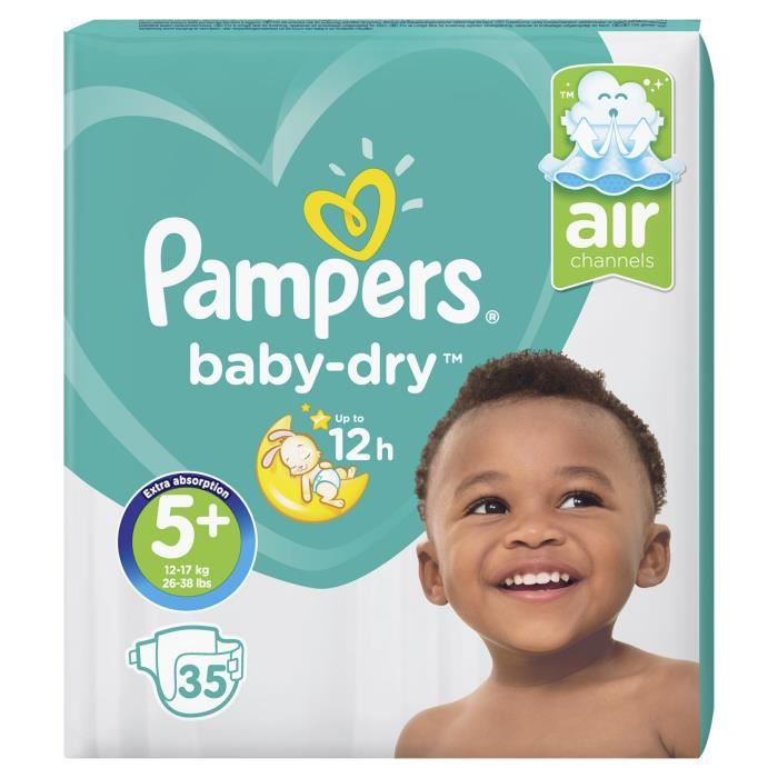 Pampers Baby Dry Taille 5 12 17 Kg 35 Couches Achat Vente