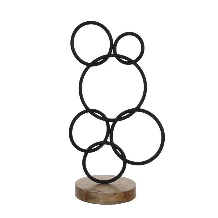 EDELMAN Sculpture Fer - Noire - L20 x l14 x H40 cm