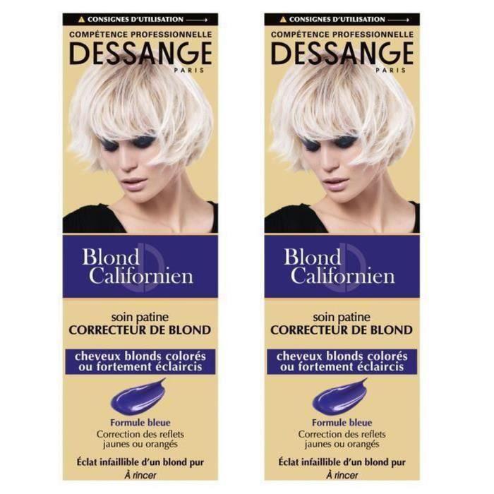 DESSANGE Blond Californien - Soin patine correcteur de blond - 125 ml (Lot de 2)